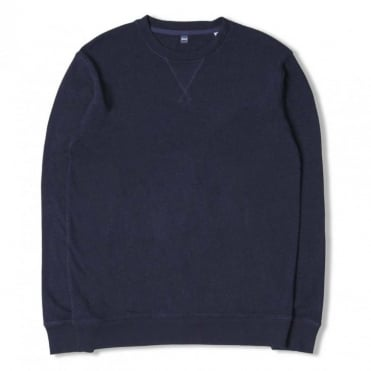 Classic Crew Indigo Terry Sweat