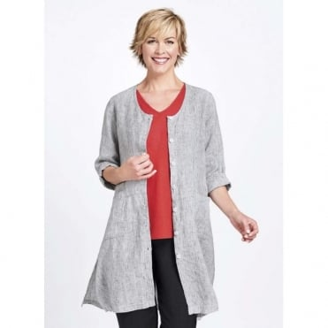 Cleanline Duster Linen Jacket
