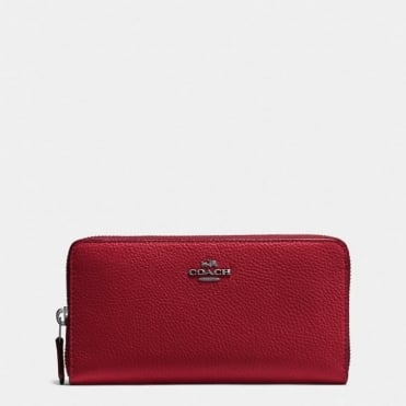 Accordion Zip Purse in Dark Cherry