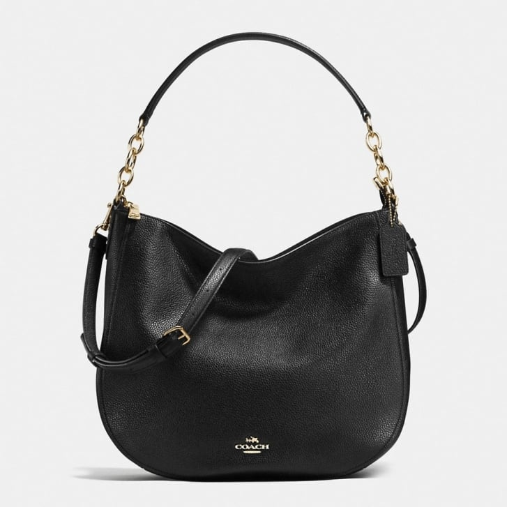 COACH Chelsea 32 Polished Pebble Hobo in Black