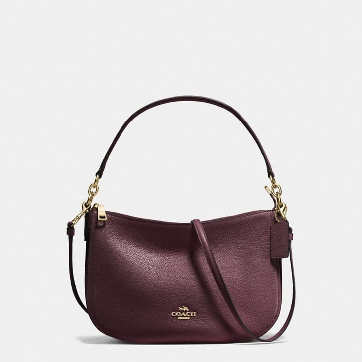 COACH Chelsea Polished Pebble Crossbody in Oxblood