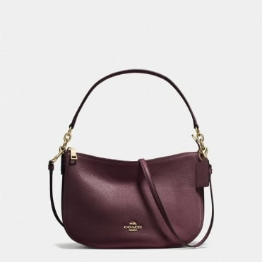 Chelsea Polished Pebble Crossbody in Oxblood