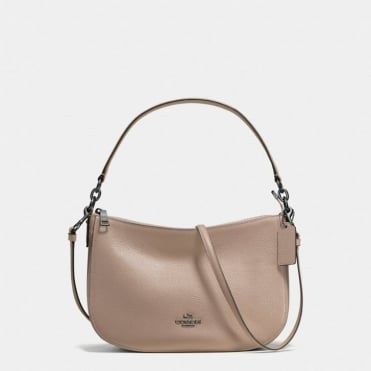 Chelsea Polished Pebble Crossbody in Stone