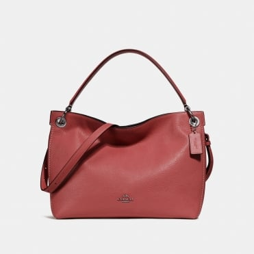 Clarkson Hobo Bag in Washed Red