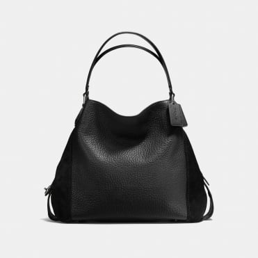 Edie 42 Shoulder Bag in Dark Black