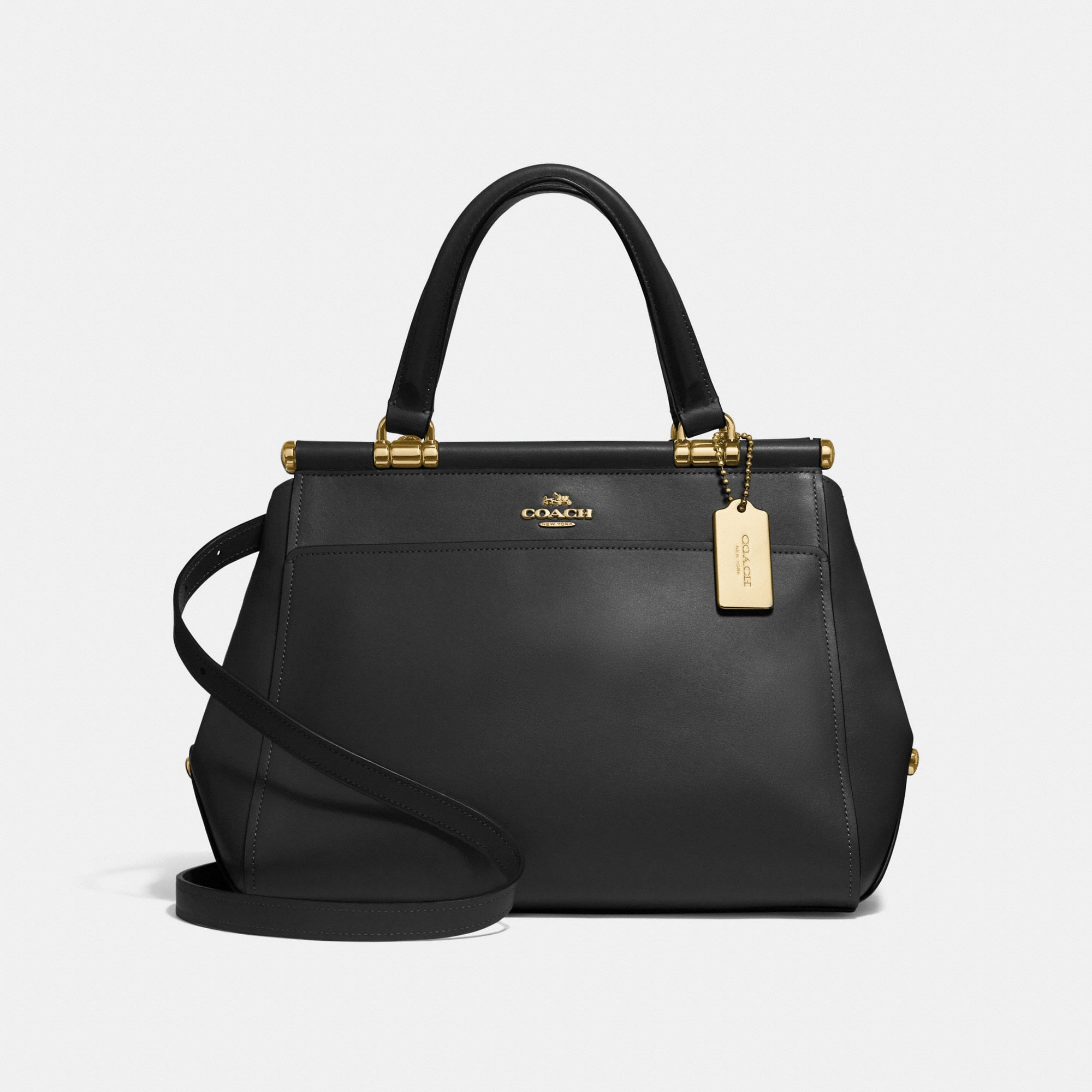 Coach Grace Refined Calf Leather Bag in Black