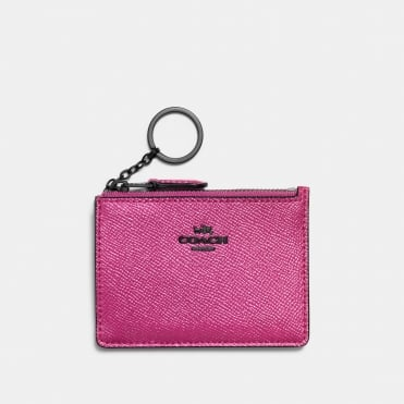 Mini ID Skinny Purse in Metallic Rose