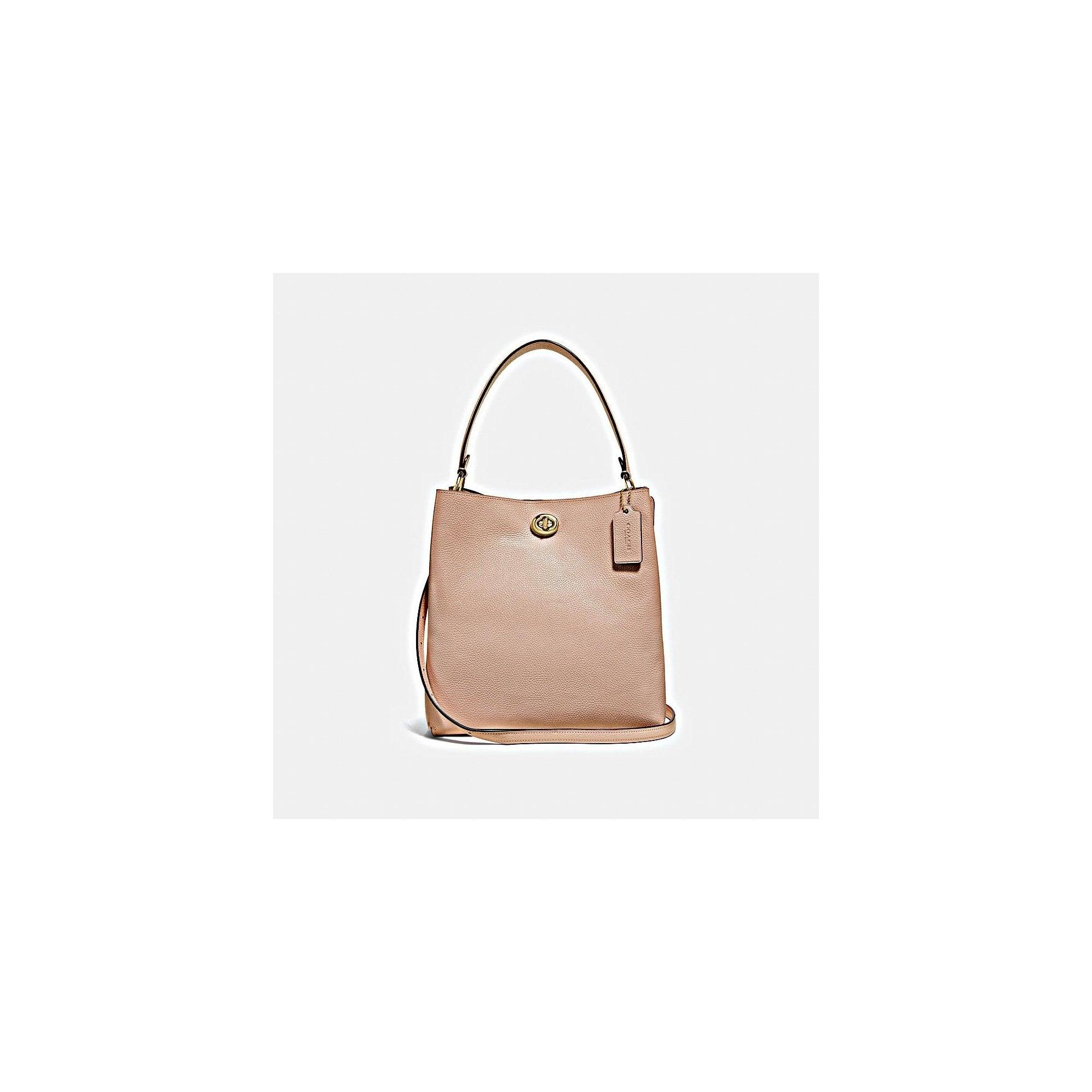 937e680ea320 COACH Polished Pebble Charlie Bucket Bag in Beechwood