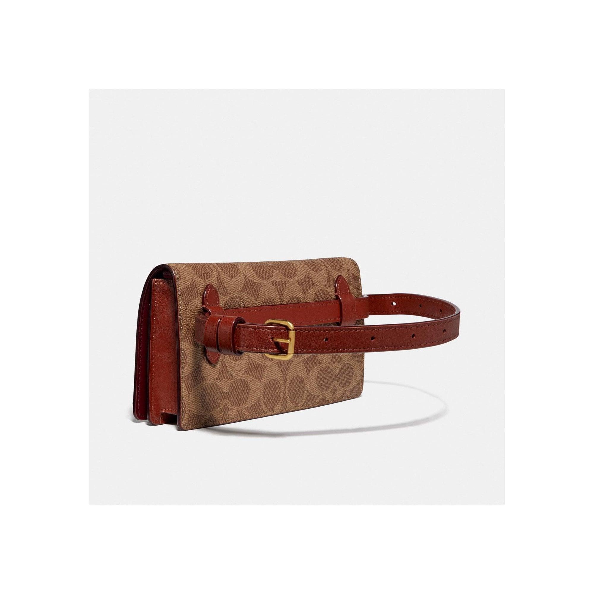 Signature Convertible Belt Bag In Tan Rust