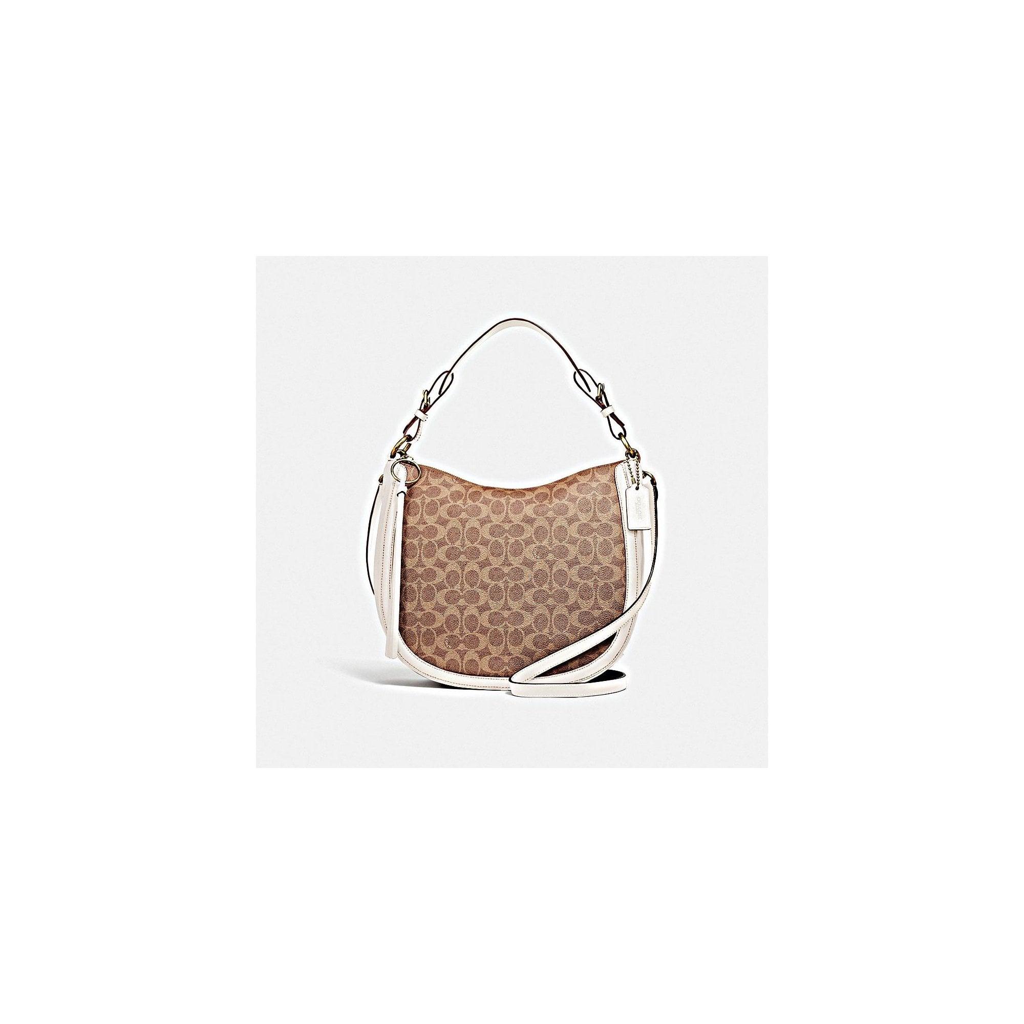 COACH Signature Sutton Hobo Bag in Tan Chalk 6760be1117503