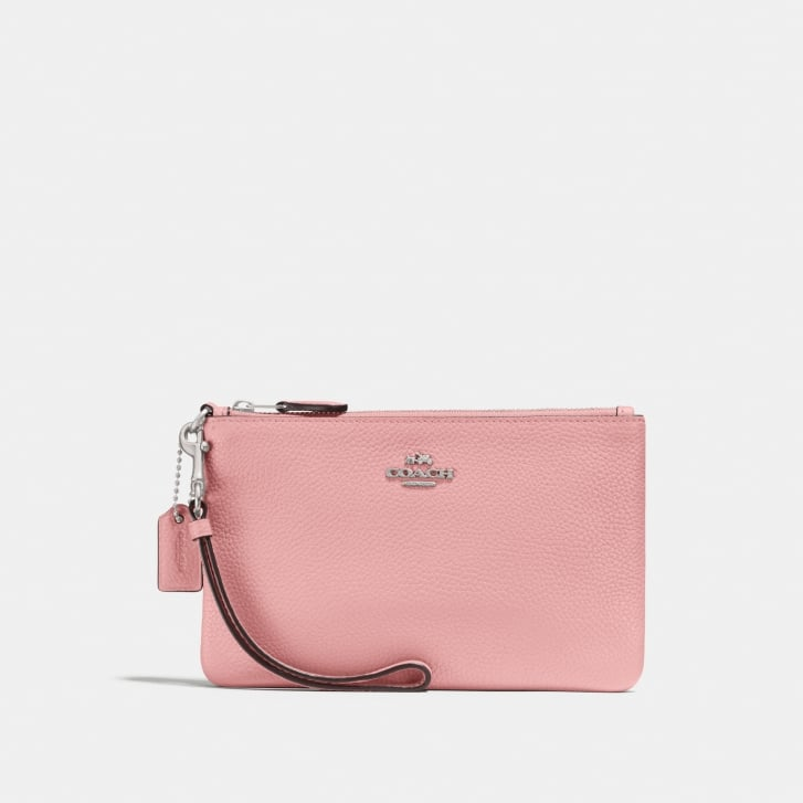 COACH Small Wristlet in Peony