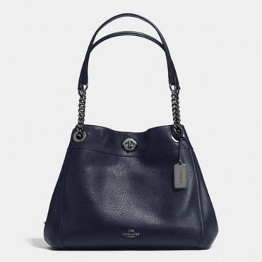 Turnlock Edie Bag in Dark Navy
