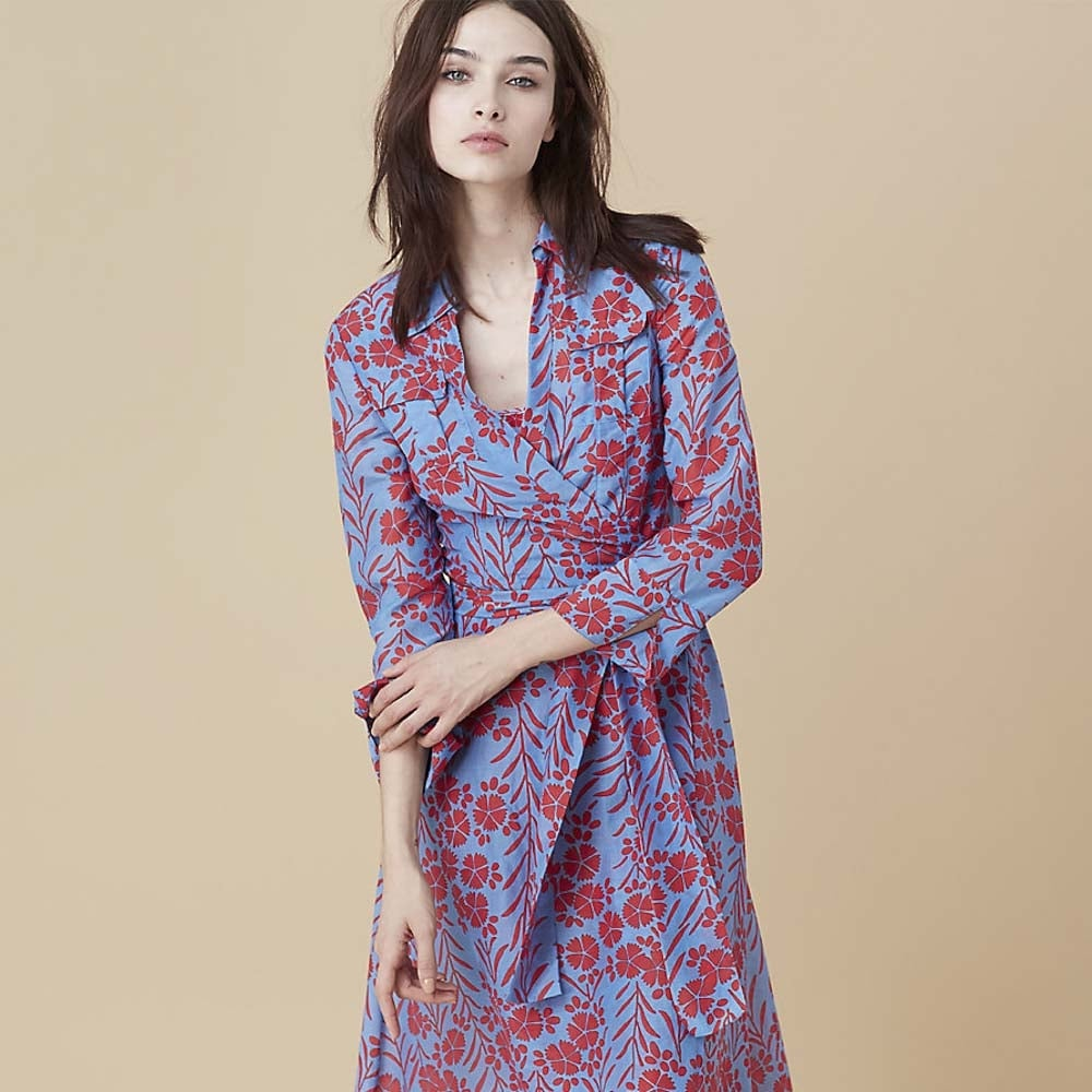 Diane von furstenberg collared wrap dress diane von for Diane von furstenberg clothes