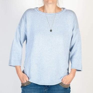 Anwar 3/4 Sleeve Jumper in Baby Blue