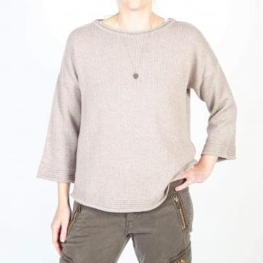 Anwar 3/4 Sleeve Jumper in Tan