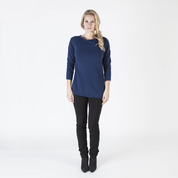 COLLEN & CLARE Double Front Boat Neck Jumper