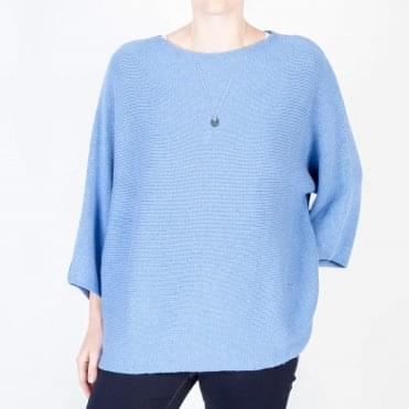 Ivy Round Neck Knit in Cornflower Blue