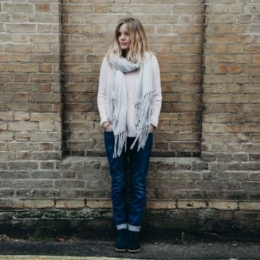 Long Tassel Scarf in Turtledove