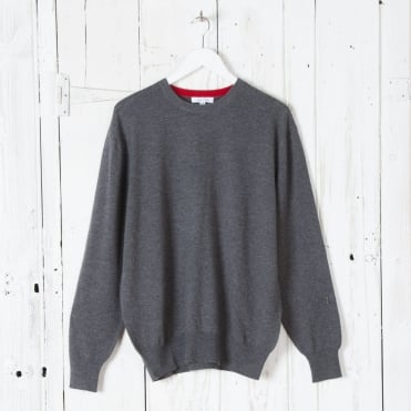Merino Round Neck in Graphite Marl