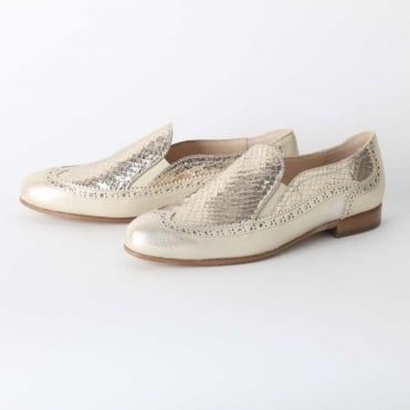 Retro Slip on Snakeskin Shoe