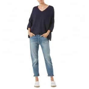 Rosebud Cotton V Neck Jumper
