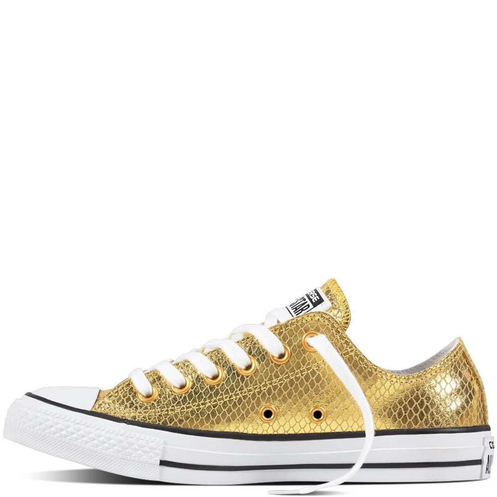 5628ed73e076 Converse Chuck Taylor All Star Metallic Leather Low - Top Sneakers