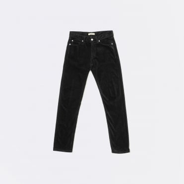 Tapered Comfort Stretch 13 Wale Cord in Black