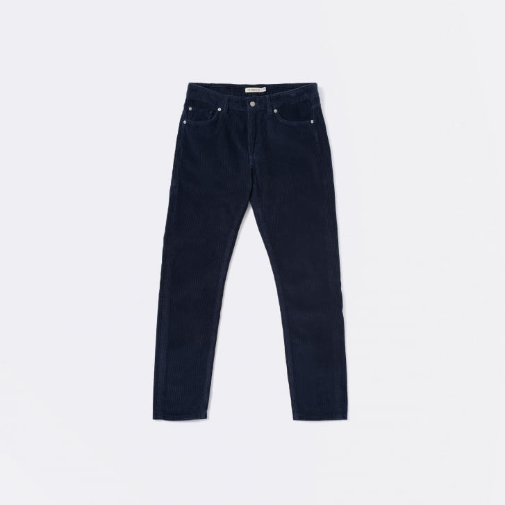 CORDS AND CO Tapered Comfort Stretch 13 Wale Cord in Indigo