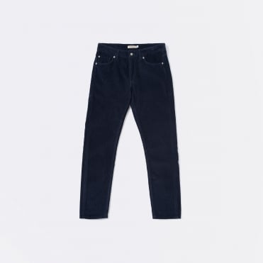 Tapered Comfort Stretch 13 Wale Cord in Indigo