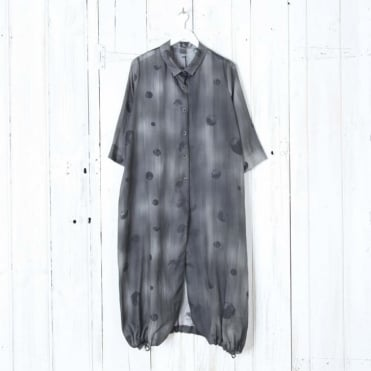 Long Line Shirt with Dots