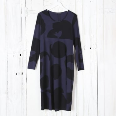 Long Sleeve Large Spot Pattern Dress