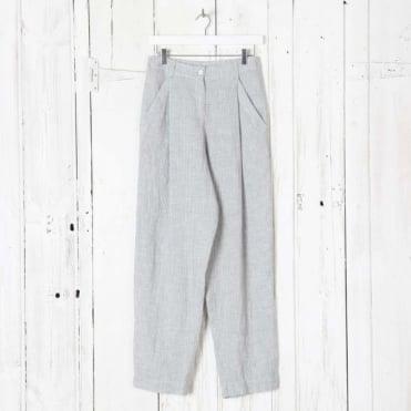 Wide Leg Pinstripe Pant