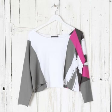 Wide Neck Abstract Jumper