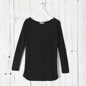 Long Sleeve Basic Scoop Top