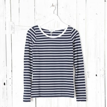Long Sleeve Stripe Crew Neck T-shirt