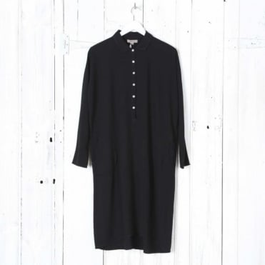 Uback Half Button Shirt Dress