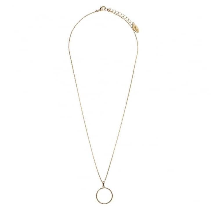 ORELIA Crystal Open Circle Ditsy Necklace