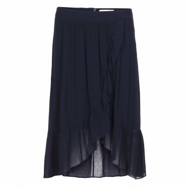 Elea Skirt in Anthracite Black