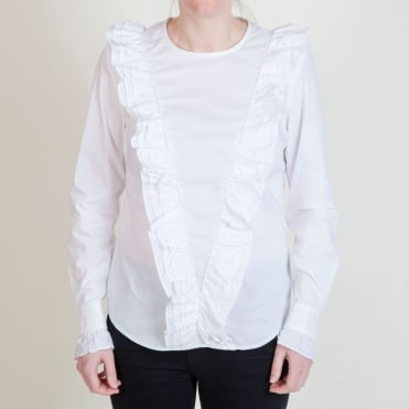 Grethe Frilly Shirt in White