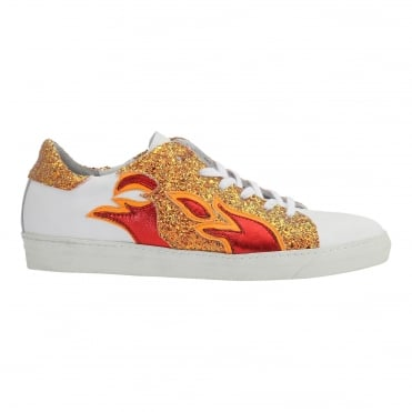 Roberta Girl On Fire Sneaker in Samba Red