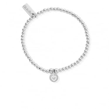 Cute Charm Heart in Circle Bracelet