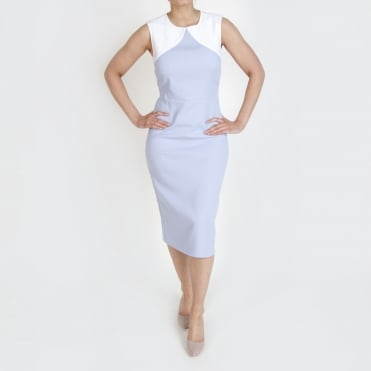Colourblock Sheath Dress in Smoke
