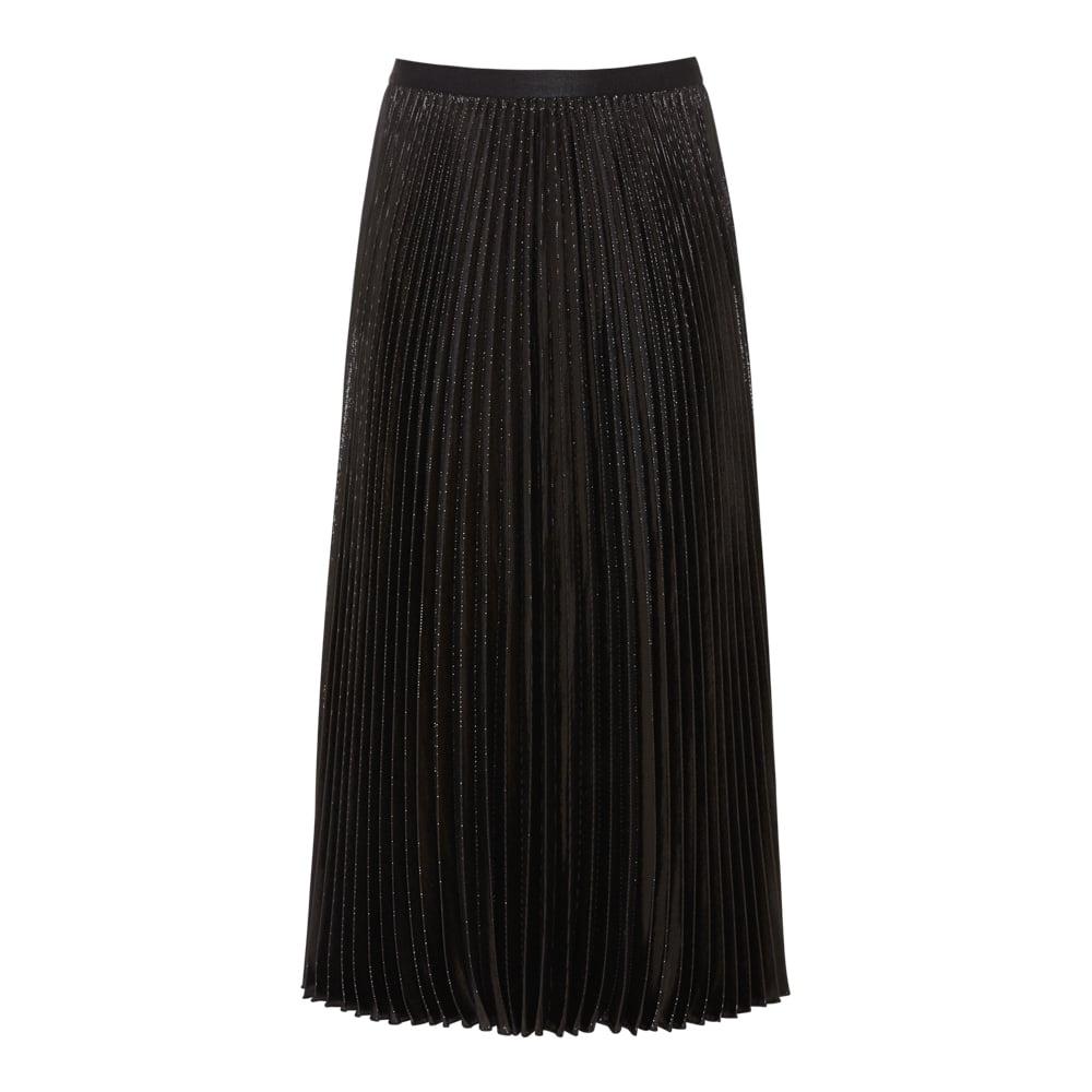 buy dvf heavyn pleated metallic lurex skirt collen clare