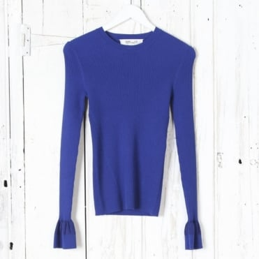 Long Sleeve Crew Neck Fitted Sweater