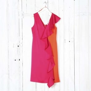Sleeveless Side Ruffle Dress