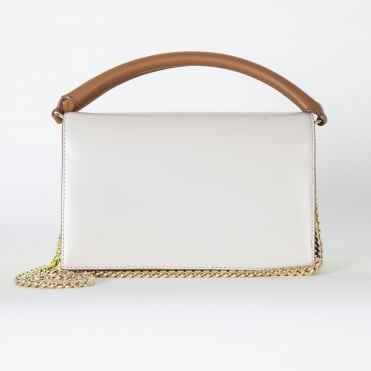 Soiree Top Handle Bag in Light Dune/Neon Yellow