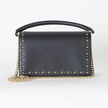 Soiree Top Handle Embellished Bag in Black
