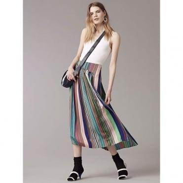 Tailored Asymmetric Overlay Skirt