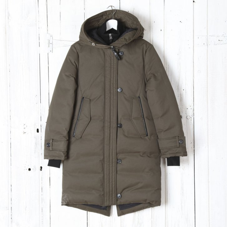 MACKAGE Down Coat with Leather Trim