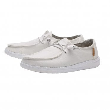 885906a491d4c Wendy Chambray Canvas Shoes in White